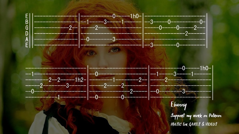 Greensleeves What Child is This Full Acoustic Guitar Tab by Ebunny Fingerstyle How to Play