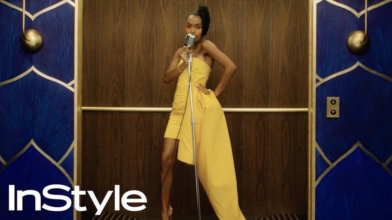 Yara Shahidi 2020 Golden Globes Elevator InStyle