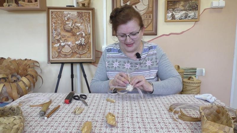 Мастер класс по берестяному творчеству Плетение лаптей