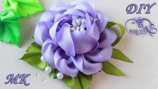 РОЗА ИЗ ЛЕНТ. Цветы МК/DIY Ribbon Rose