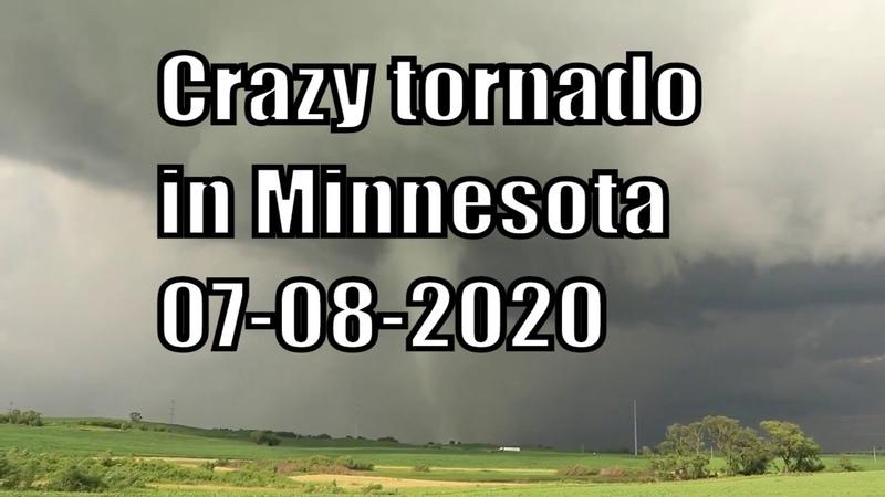07 08 2020 Crazy tornado in Minnesota Сумасшедший торнадо в Миннесоте