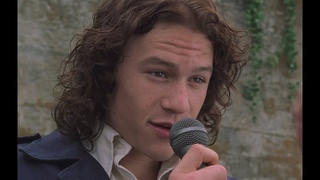 Patrick sings to Kat - Heath Ledger (10 things i hate about you)