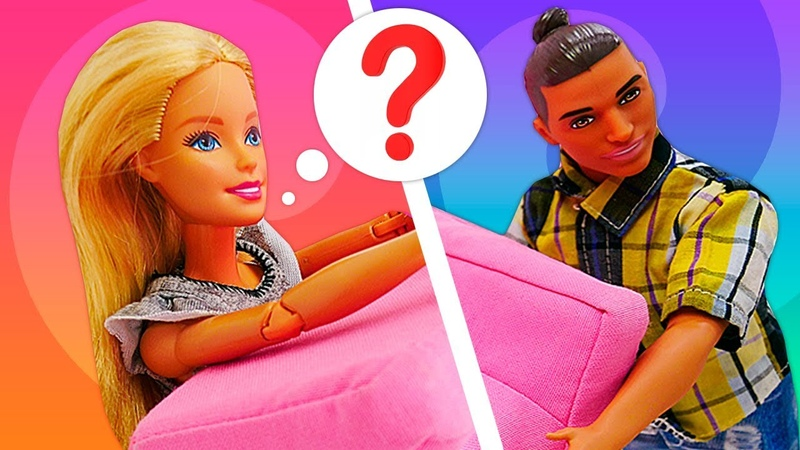 New Miniature Furniture and Cleaning at Barbie's Dollhouse