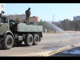 В Волжск прибыла военная техника: дезинфекцию города решили провести масштабно