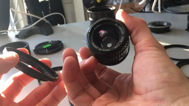 M42 Base Lens housing for anamorphic builds