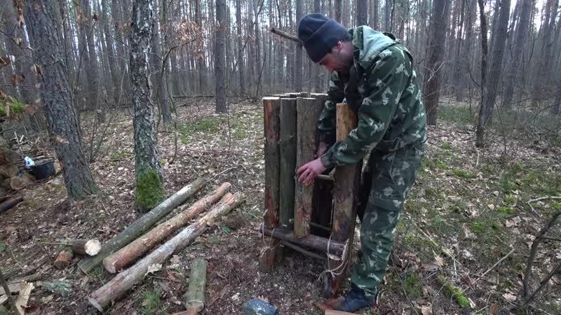 [Vitalik Ignatyuk] Жизнь в лесу [5-Часть] Не ожидал такой улов у вершу. Сделал лесную коптилку. Копчение рыбу.