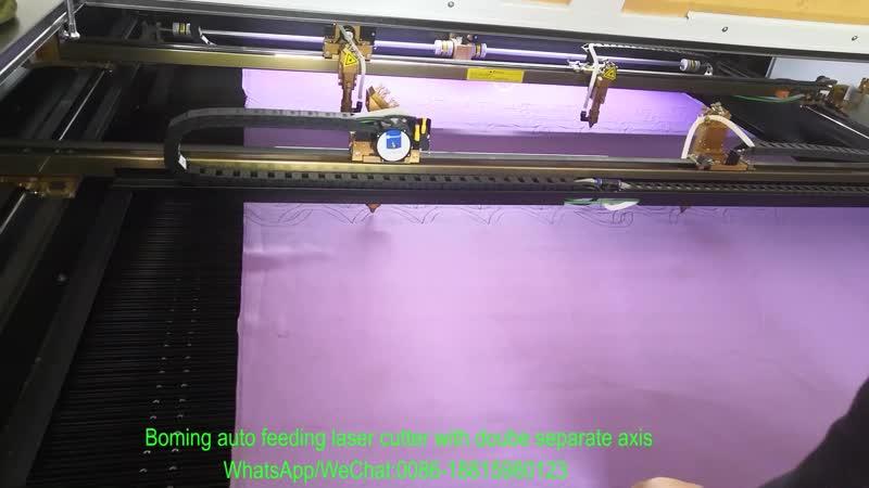 2axis 4head auto feeding laser cutter whatsapp wechat 0086 13599259031