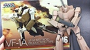 VF 1A Battroid Production Type WAVE Macross 1 100 Scale Unbox Review