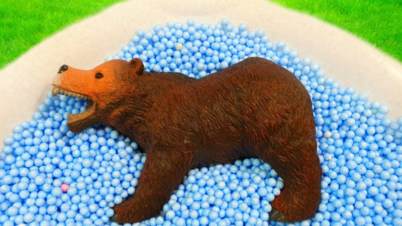 Learn Colors with Animals and Squishy Balls Education Video with Foam Beads for Kids Children