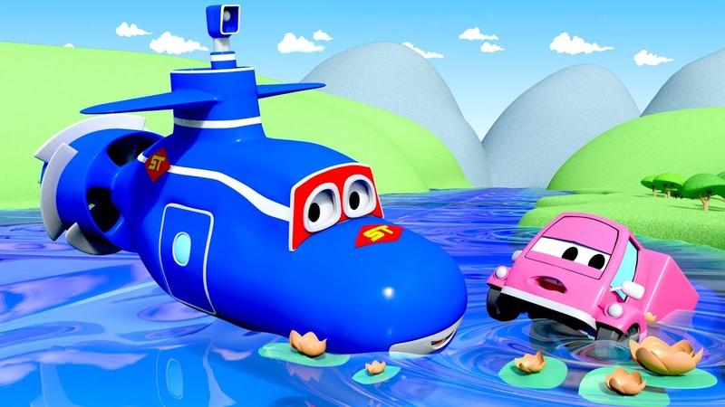 Сьюзи тонет Трансформер Карл в Автомобильный Город 🚚 ⍟ детский мультфильм