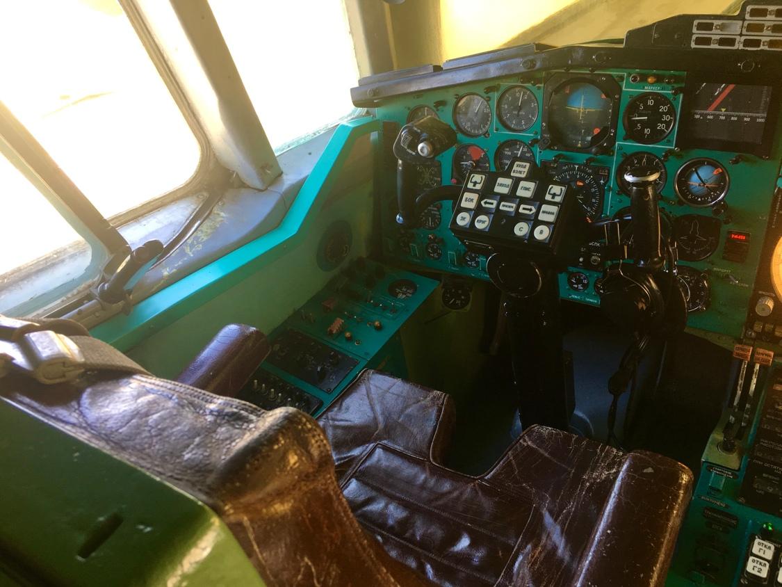 Рабочее место пилота Ту-144