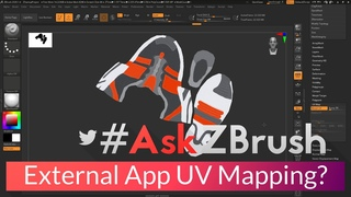 "#AskZBrush - ""How can I export a model for UV Mapping in an external application?"""