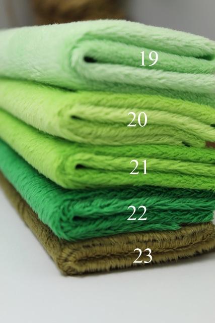Minibärenstoff aus USA Micro plush green grün neu