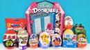 СЮРПРИЗ MIX! Doorables Disney, БАРБИ, Мстители MARVEL, Король лев Unboxing Kinder Surprise Eggs