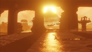 Greatest Video Game Scenes ep. #3 HD - Journey - Sand Surfing with Amazing Sunset
