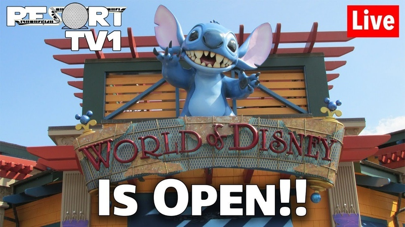 🔴Live Disney Stores are OPEN at Disney Springs Walt Disney World Live Stream