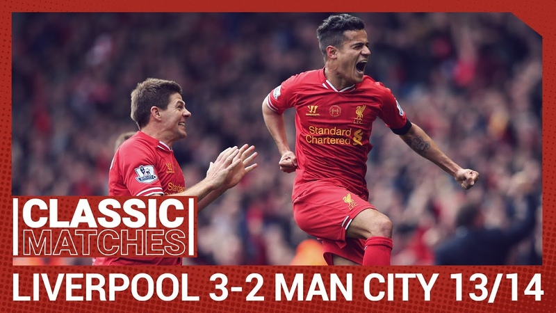 Premier League Classic Liverpool 3 2 Man City Anfield goes wild for Coutinho winner