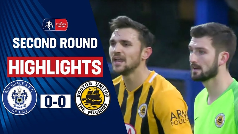 Rochdale Held by Plucky Pilgrims Rochdale AFC 0 0 Boston United Emirates FA Cup 19 20