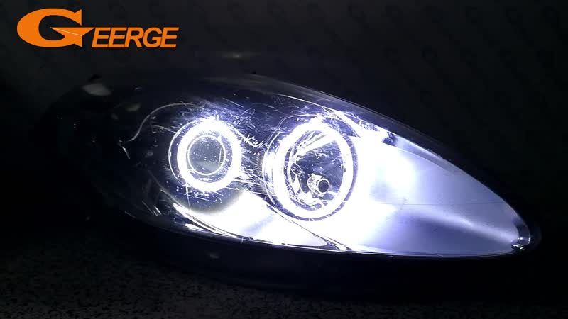 For Fiat Croma facelift 2008 2009 2010 2011 Excellent Ultra bright illumination COB led angel eyes kit halo rings
