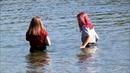 Wetlook summer swimming
