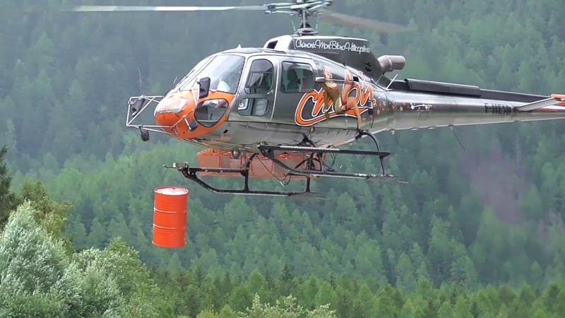 High skill pilot CMBH AS350 demo by Pascal Brun