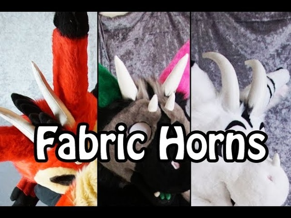 Tutorial 19 Fabric Horns for Fursuits PDF Pattern