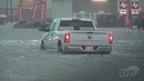 9-19-2019 Winnie, Tx Flash flood emergency cars stalled all over the city High water rescue vehicle