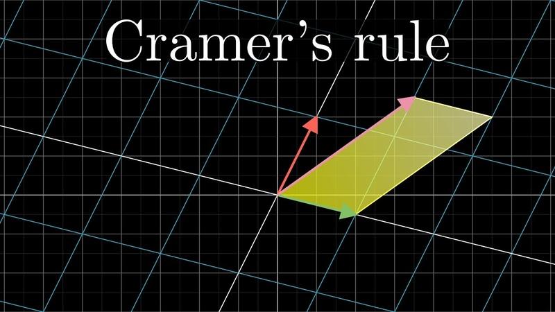 Cramer's rule, explained geometrically | Essence of linear algebra, chapter 12