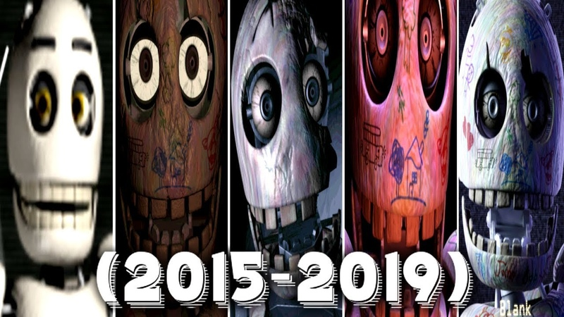 Evolution of Blank in FNAC 1, 2, 3, Remastered (2015 - 2019)