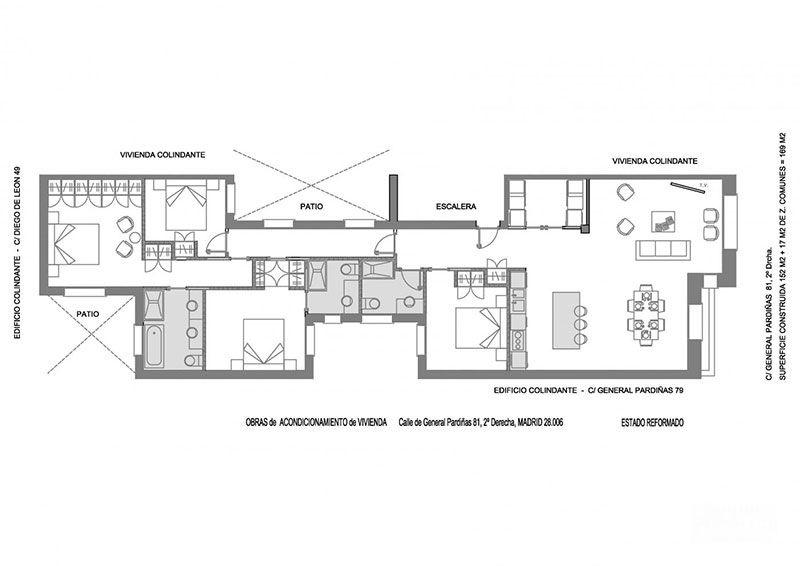 Стильные апартаменты в классическом доме в Мадриде от Nordic Standard