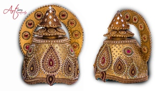 Part 1  DIY How to make Mukut   God ( crown  / tahia in odia )   kundan mukut   Art with Creativity