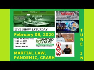 Coming Martial Law Pandemic Crash - United We Start Roundtable Discussion 8th of February 2020
