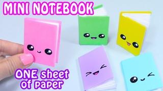 DIY MINI NOTEBOOKS ONE SHEET OF PAPER - DIY BACK TO SCHOOL