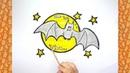 How to Draw a Cartoon Vampire Bat For Halloween Halloween Drawings