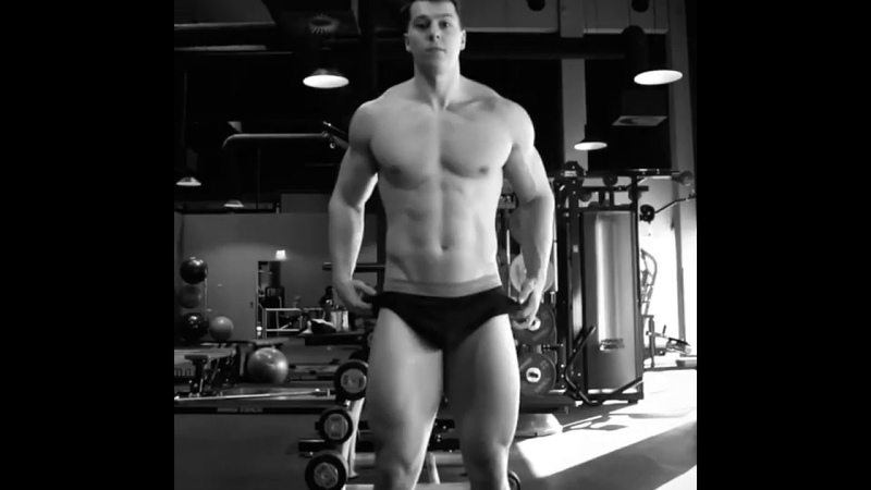 Young muscle god Paul Unterleitner Austria strips off to his boxer briefs to shows us his muscles