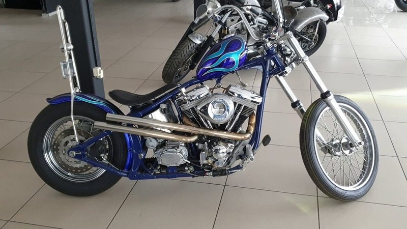 Harley Davidson Softail Chopper работа мотора
