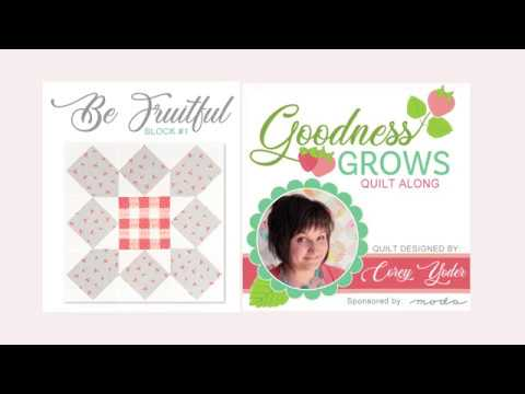 Goodness Grows Block 1 Sew Sampler Box- EXCLUSIVE PATTERN TUTORIAL! | Fat Quarter Shop