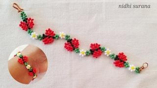 ⚜️ Cute Butterfly Bracelet/Anklet/How to make/Pulsera Tutorial Diy(0437)