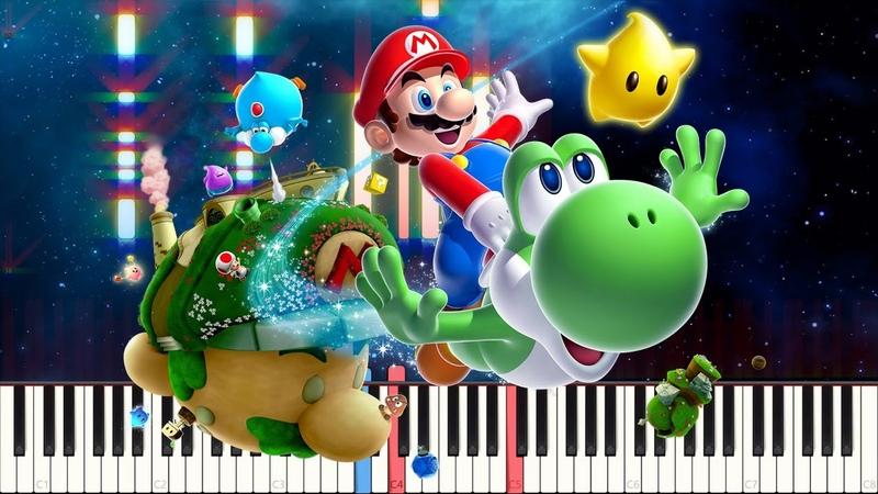Battlerock Galaxy - Super Mario Galaxy [Piano Tutorial] (Synthesia) Steffan Kaye