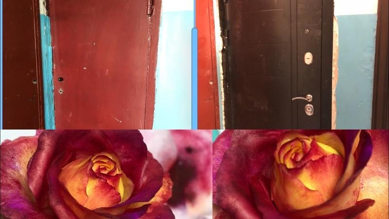 Двери до и после опять соус мастер класс как сделать розу из холодного фарфоратонировка розы
