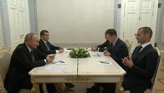 Вести.Ru: Путин на встрече с главой УЕФА напомнил, кто первым выиграл чемпионат Европы
