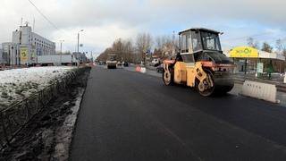 Дорожный ремонт под октябрьскую слякоть в Северодвинске 📹  (Северодвинск)