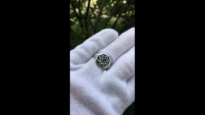 Перстень мужской Эмаль
