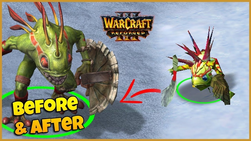 Murloc - Side by Side Comparison | Warcraft 3 Reforged In-game Preview