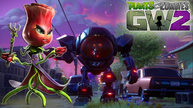 Plants vs Zombies GW2 Мультик о зомби РАСТЕНИЯ против ЗОМБИ Садовые Войны 2 Персонаж Роза