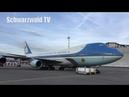 🛬 Airforce One POTUS Trump Arrival Switzerland Airport ZH Kloten 21 01 2020
