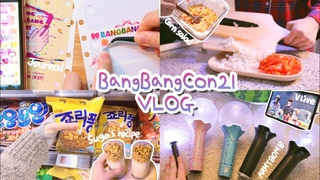 방탄소년단 콘서트 (방방콘) 준비해요! BTS 카페 용산점 레시피로 만든 죠리퐁라떼, 콘샐러드, 다이어리 꾸미기, 아미밤 점검 GRWM Bang Bang Con 21 Vlog