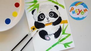 Рисуем Панду    Как нарисовать Панду!