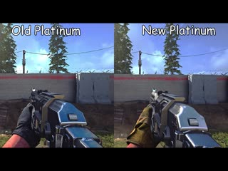 Comparing the old and new platinum camos on the smgs