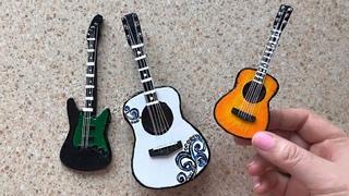 DIY Miniature Guitar from cardboard | Cardboard craft | Simple idea